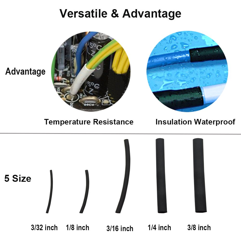 270 Pcs 31 Dual Wall Adhesive Heat Shrink Tubing Kit 5 Sizesdia Wiring Harness Sleeve 3 8 1 4 16 32 Best Cable Tube Assortment With Storage Case For