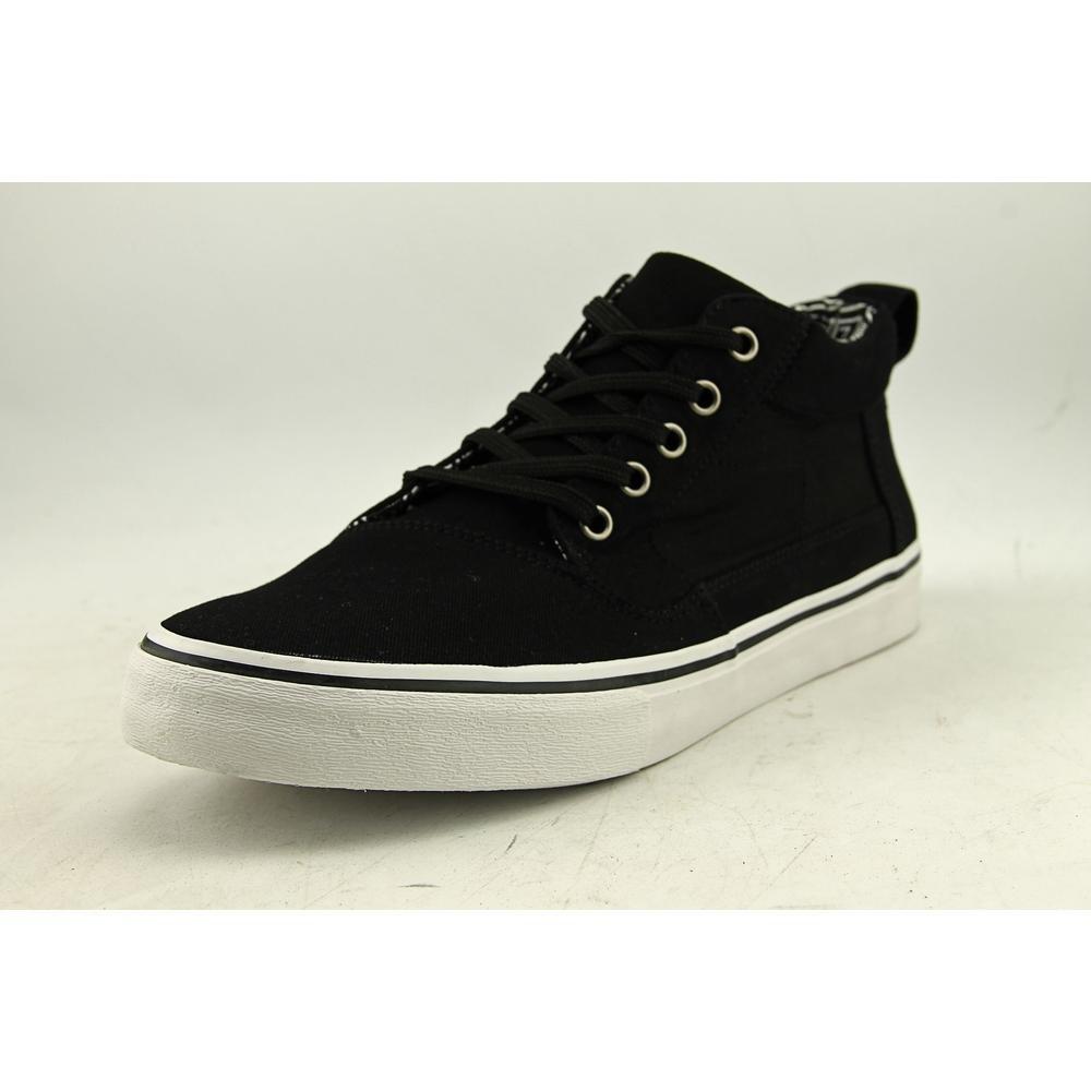 TOMS Valdez Mid Sneakers Black Cotton Twill Ripstop Mens Mens 9