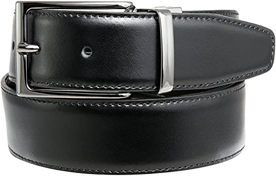 100 CM Cintura IN Pelle Per Fibbia Cintura Nero Con Bottone Wechsel-Gürtel #001