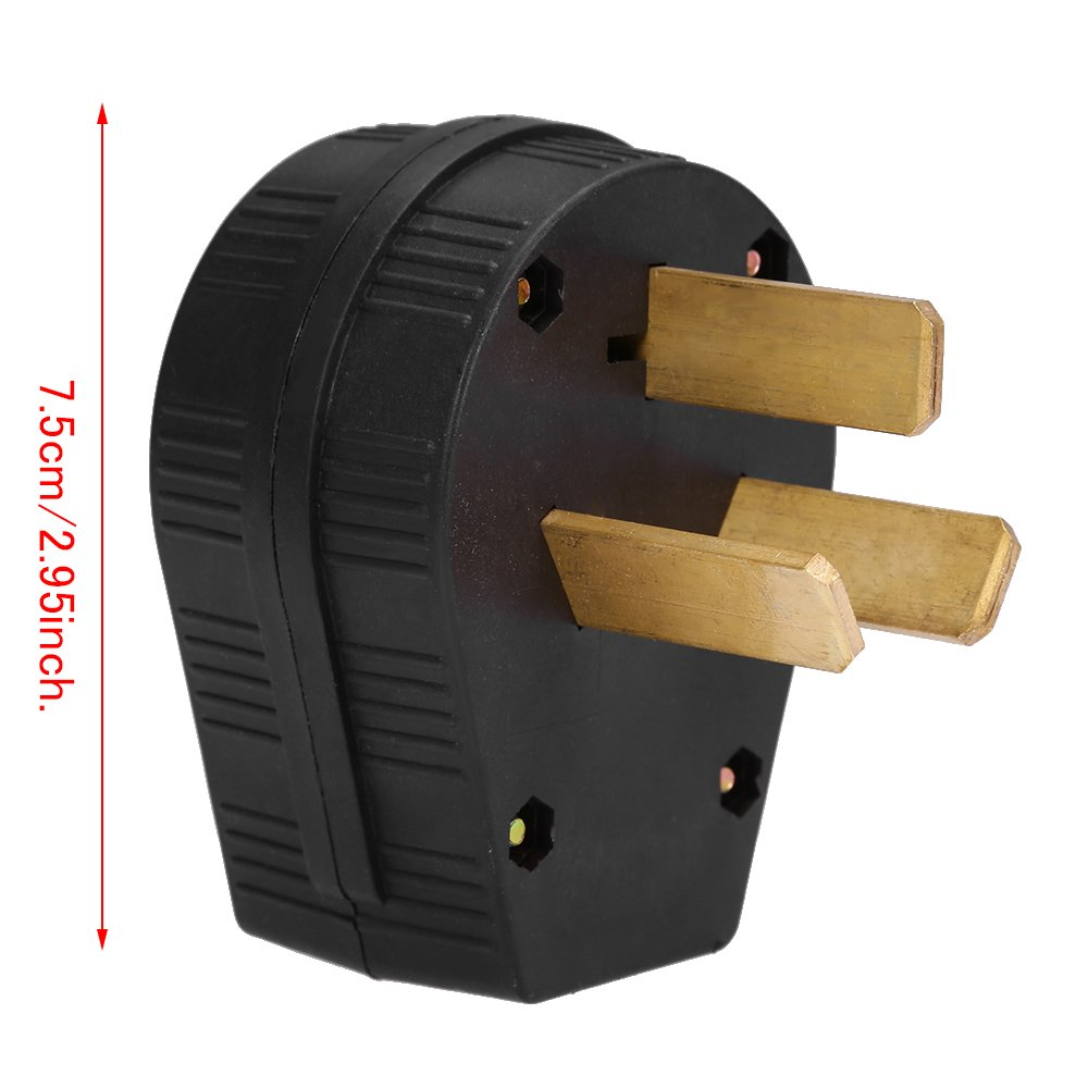 50 Amp 220 Volt 3 Prong Plug Replacement Electrical Rv Welder 220v 2 95 Inch Amazon Com Industrial Scientific