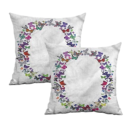 Amazon.com: Khaki home Letter O Square Pillowcase Covers ABC ...
