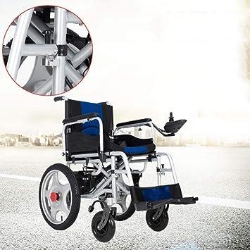 Ancianos Discapacitados Silla de Ruedas Eléctrica Plegable ...