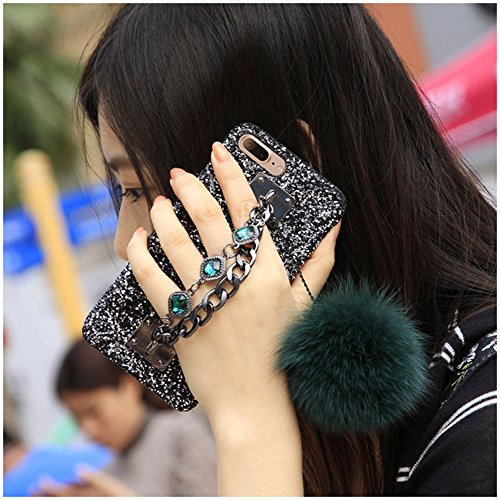 Case Bling Hard Plastic (Tianyuanxuan-Iphone 7/8 Plus Plastic Case Crystal Rhinestone Bling Diamonds Glitter Cover for Girl Hard Shell for Iphone 7/ 8 Plus Protector-Green)