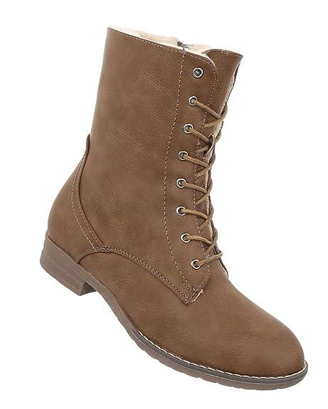 Outlet zum Verkauf erstaunliche Qualität Genießen Sie kostenlosen Versand Damen Schuhe Stiefeletten Warm Gefütterte Schnürer Boots ...