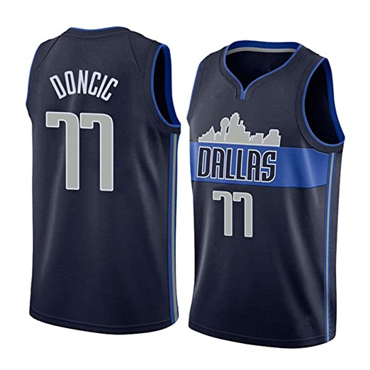 BALL-WHJ Camiseta para Hombre - NBA Dallas Mavericks 77# Doncic ...
