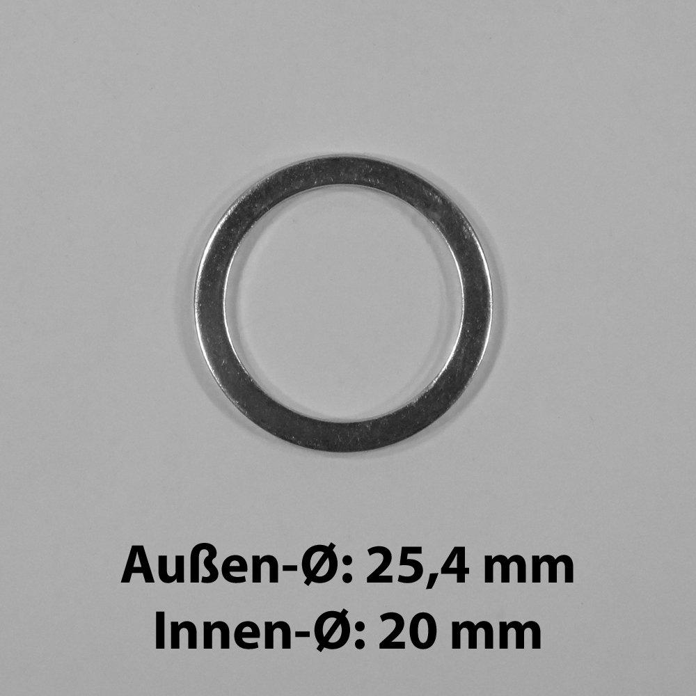 Reduzierringe Reduzierring Ersatzring f/ür Kreiss/ägebl/ätter von 25,4 mm auf 20 mm