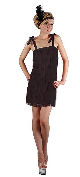 Generique - Disfraz Charlestón Negro con Flecos Mujer S: Amazon.es ...