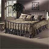 #10: Hillsdale Furniture 1333BQR Edgewood Bed Set with Rails, Queen, Magnesium Pewter