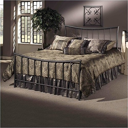Discover Bargain Hillsdale Furniture 1333BQR Edgewood Bed Set with Rails, Queen, Magnesium Pewter