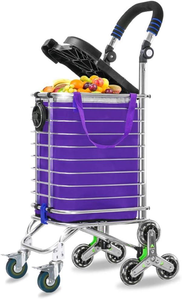 ショッピングトロリー荷物トレーラー頑丈な折りたたみ階段登山ショッピングカート防水調節可能なハンドル