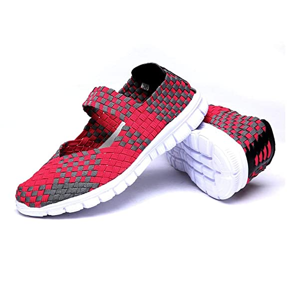 Amazon.com | Chenghe Womens Casual Lightweight Water Shoes Breathable Comfort Woven Shoes | Fashion Sneakers