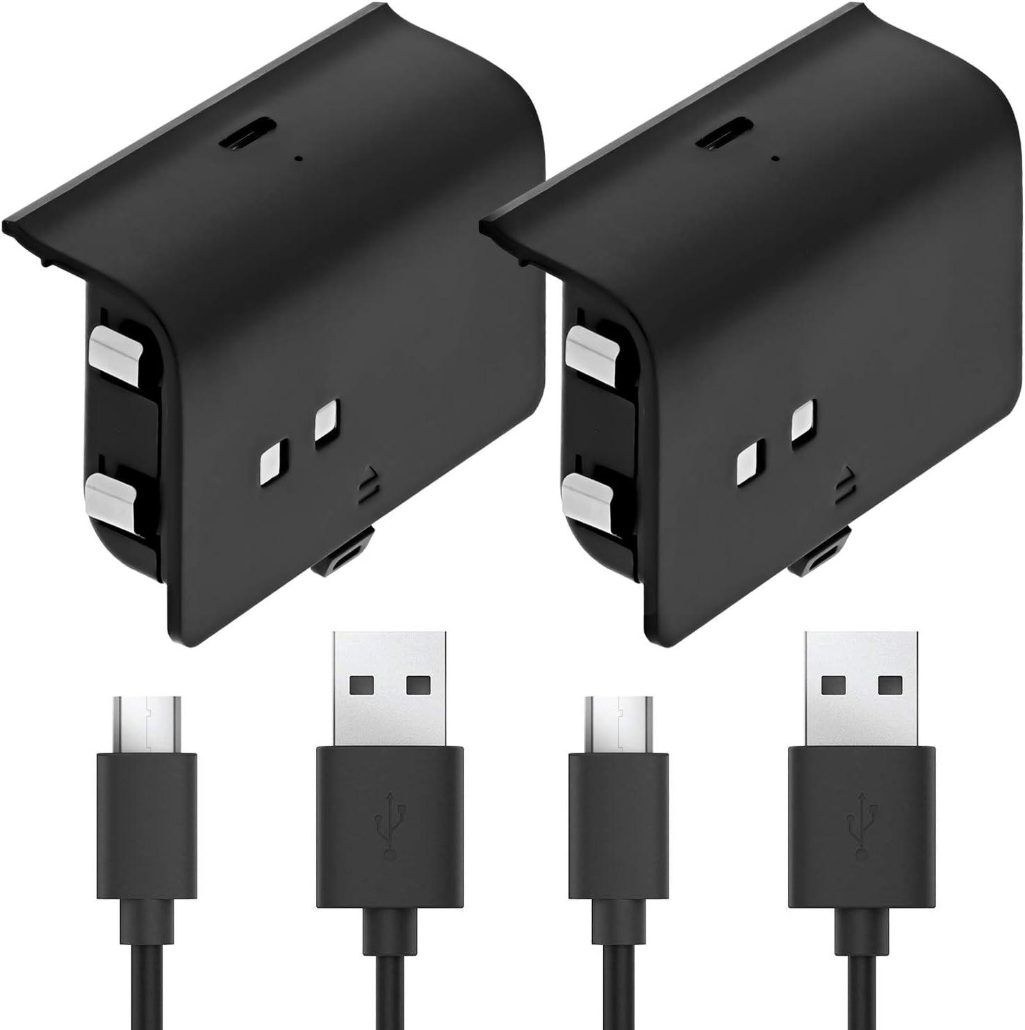 Fosmon Cargador de Batería Recargable Compatible con Mando Xbox One/One S/ One X/Elite (Paquete de 2), Con Cable Micro USB Compatible con Fosmon Cargador C-10659 / C-10709 / C-10738 / C-10751: Amazon.es: Electrónica