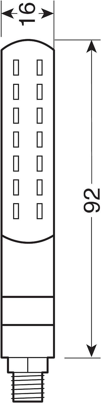 12 V LED Line SQ Rear Clignotants /à LED s/équentiels et feux de position//stop arri/ère