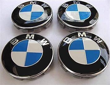 OVR 4 x BMW Azul/Blanco Y Negro Logo 68 mm Buje Tapas Tapacubos Tapacubos