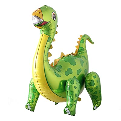 Self Standing Dinosaur Tyrannosaurus Animal Balloons for Birthday Party Baby Shower Decoration Kit Inflatable Party Supplies Decorations Gift Kids and Adults (3D Tanystropheus Green): Health & Personal Care