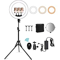 Xumougen 18 Inch LED Ring Light with Stand