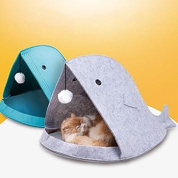 Nido de mascota tipo de pez fieltro cama de mascota cálido hogar suave saco de dormir