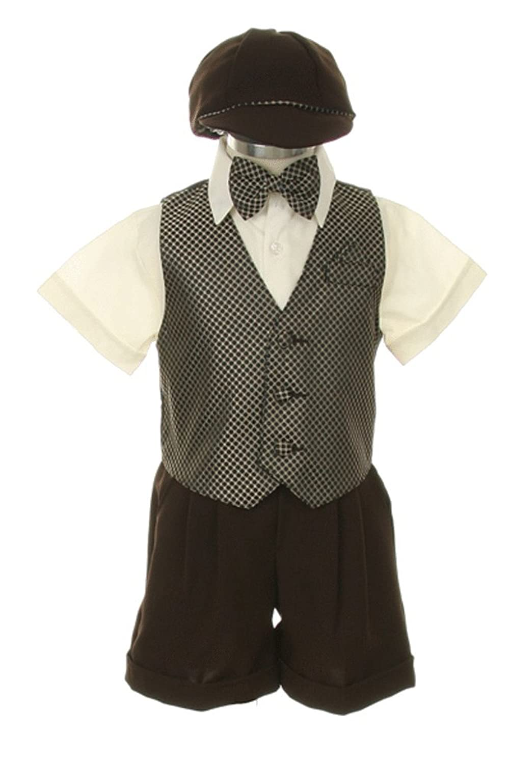 Amazon.com: Dress Suit Outfit Set-Shorts, Bow-tie, Vest, Shirt ...