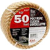 Koch 5011635 Twisted Polypropylene Rope,  1/2 by 50 Feet, Tan