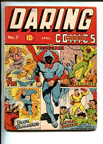 (Daring Mystery #7-Blue Diamond-Captain Daring-Fin- Challenger TIMELY-glue)