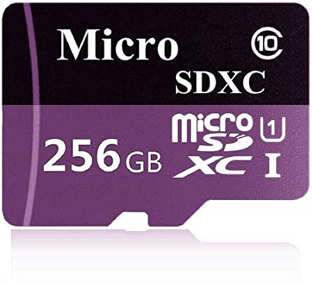 256GB Micro SD Card High Speed Class 10 MicroSDXC with SD Adapter