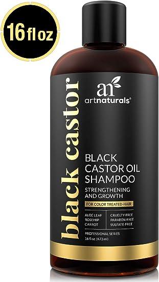 ArtNaturals Champú de aceite de ricino negro – (16 fl oz/473 ml ...