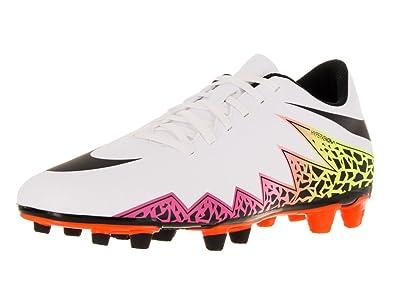 16e7a9459 Nike Mens Hypervenom Phade II Fg White/Black/Total Orange/Volt Soccer Cleat