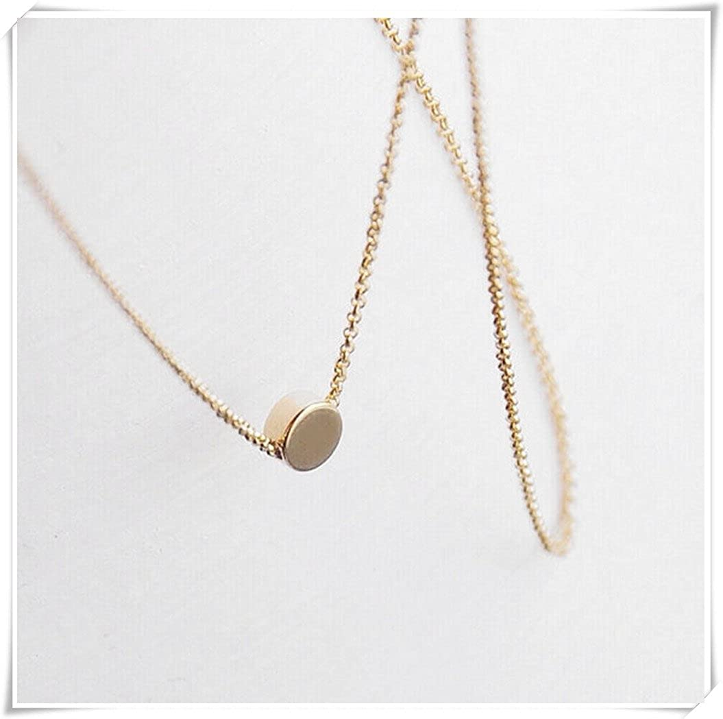 simple button necklace dainty layering coin Gold circle disc minimal everyday minimal bridesmaid jewelry gift for her Tiny dot Necklace