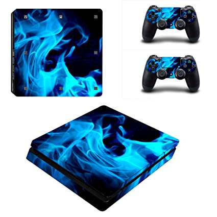 Video Games & Consoles Faceplates, Decals & Stickers Vinyl Skin Cover Blue Flames Decal Sticker For Sony Playstation 4
