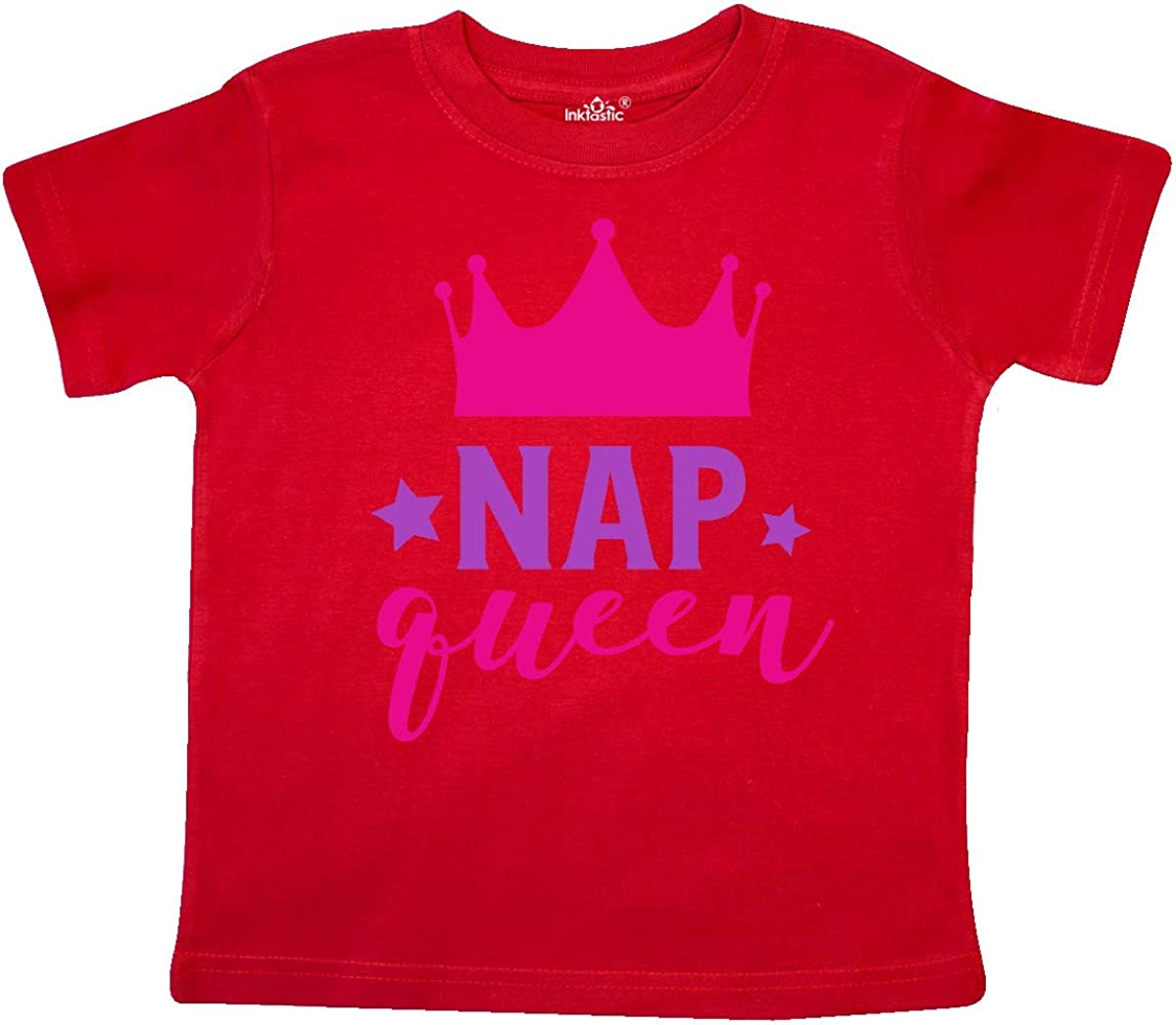 inktastic Nap Queen Pink Purple Toddler T-Shirt Crown Stars