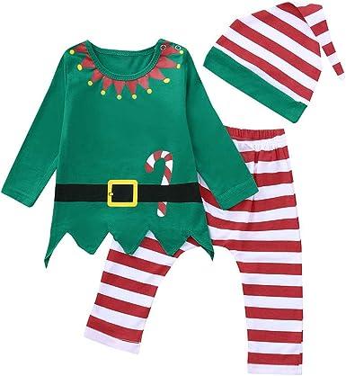 K-youth Ropa de Bebe Niño Navidad Pijamas Niño Navidad Invierno Ropa para Bebe Niña Recien Nacido Bebe Disfraz Navidad Conjunto Niña Pantalon y Top ...