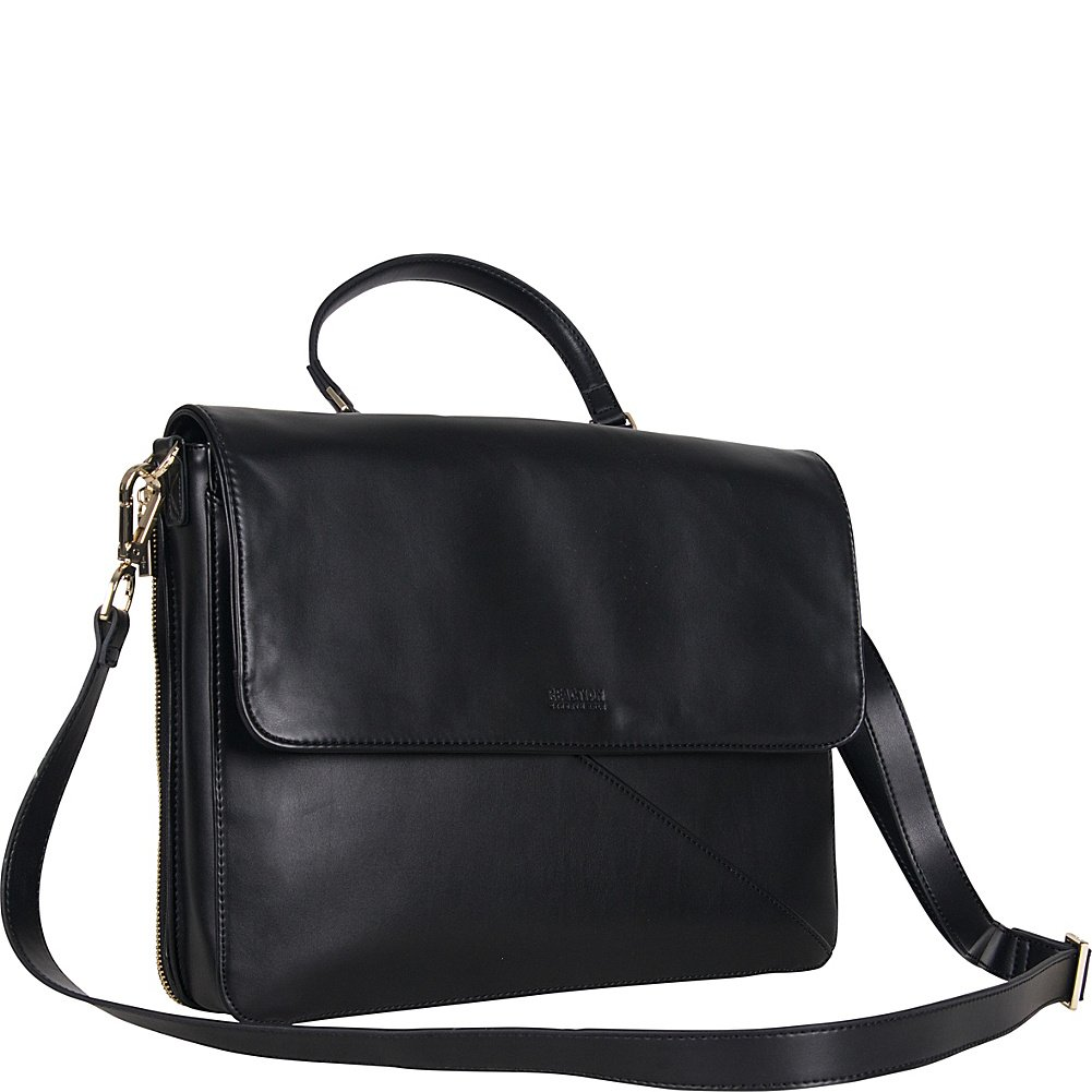 Kenneth Cole Reaction Women's 15.0 Computer Case Crossbody Business Laptop Tote, Black, One Size