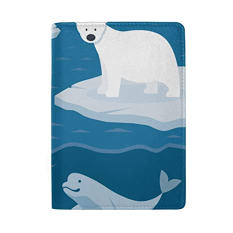 Lovely Arctic Wildlife Cartoon Bloqueo Imprimir Pasaporte ...