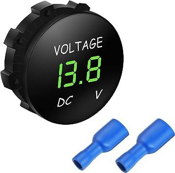 DC 12V LED Panel Digitale Spannungsmesser Anzeige Voltmeter für Auto Motorrad