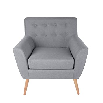 Admirable Panana Modern Single Seat Linen Fabric Armchair Sofa Chair Unemploymentrelief Wooden Chair Designs For Living Room Unemploymentrelieforg
