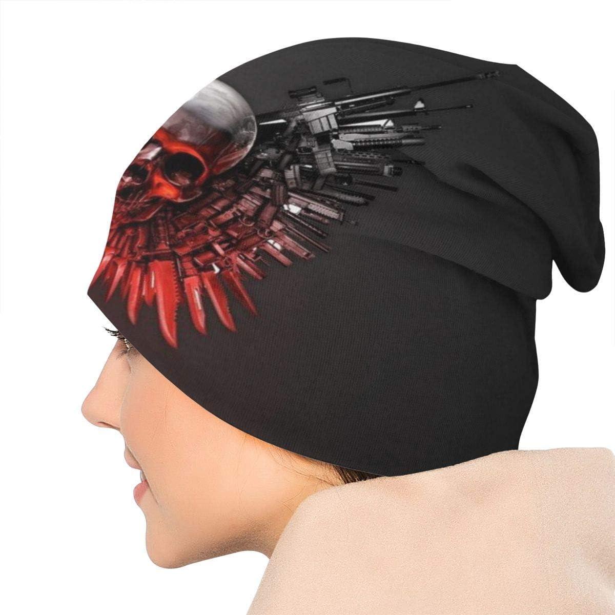 Halloween Scary Horror Clown DHNKW Beanies Men Women Unisex Cuffed Plain Skull Knit Hat Cap