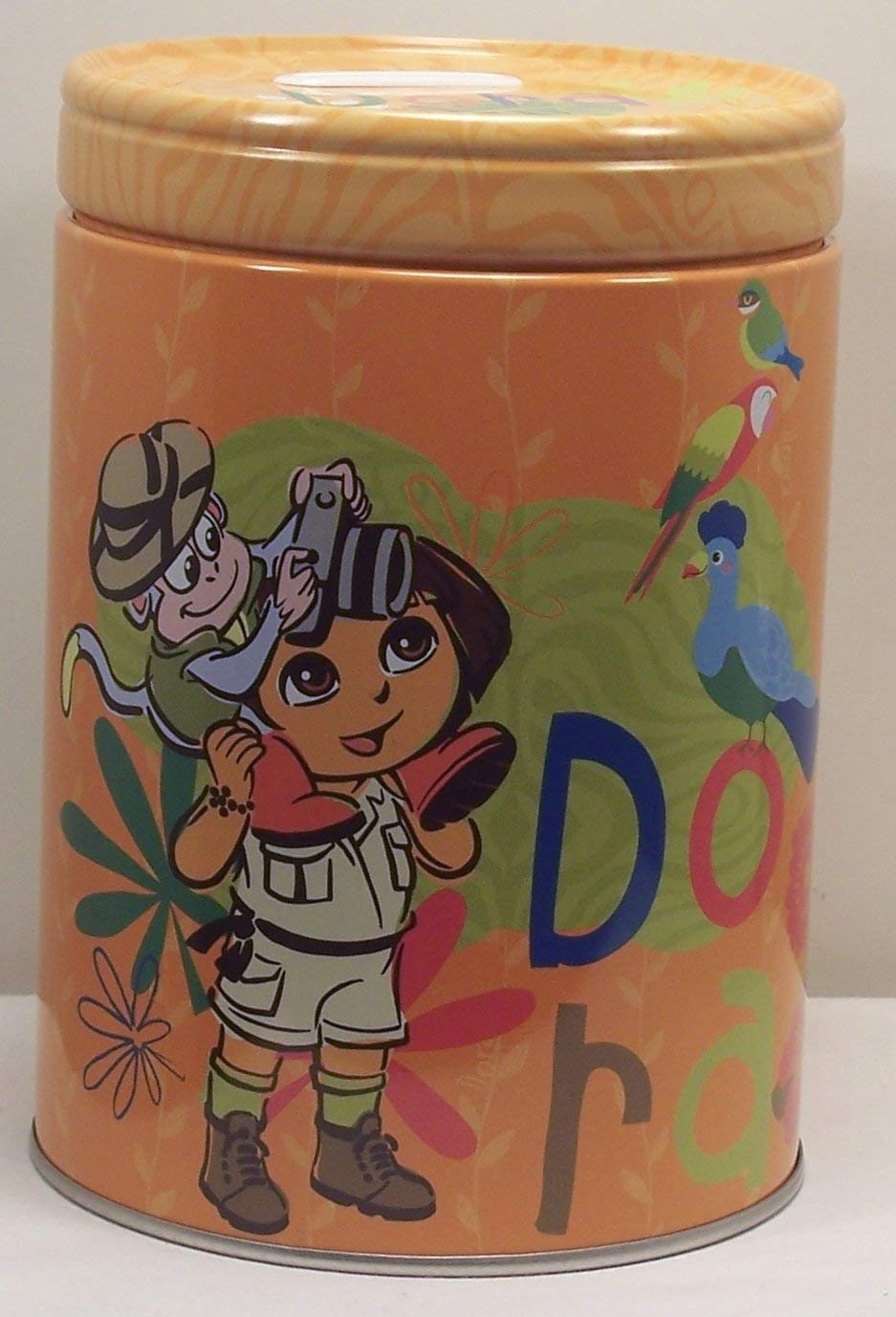 Dora the Explorer Round Tin Coin Bank Lets Explorer Theジャングル   B00S6ZQWZS