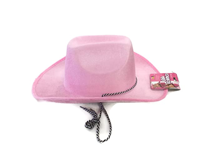 Amazon.com  Faerynicethings Deluxe Adult size Pink Velvet Felt Cowboy Hat -  Cancer Awareness Accessory  Clothing d9042f608ee