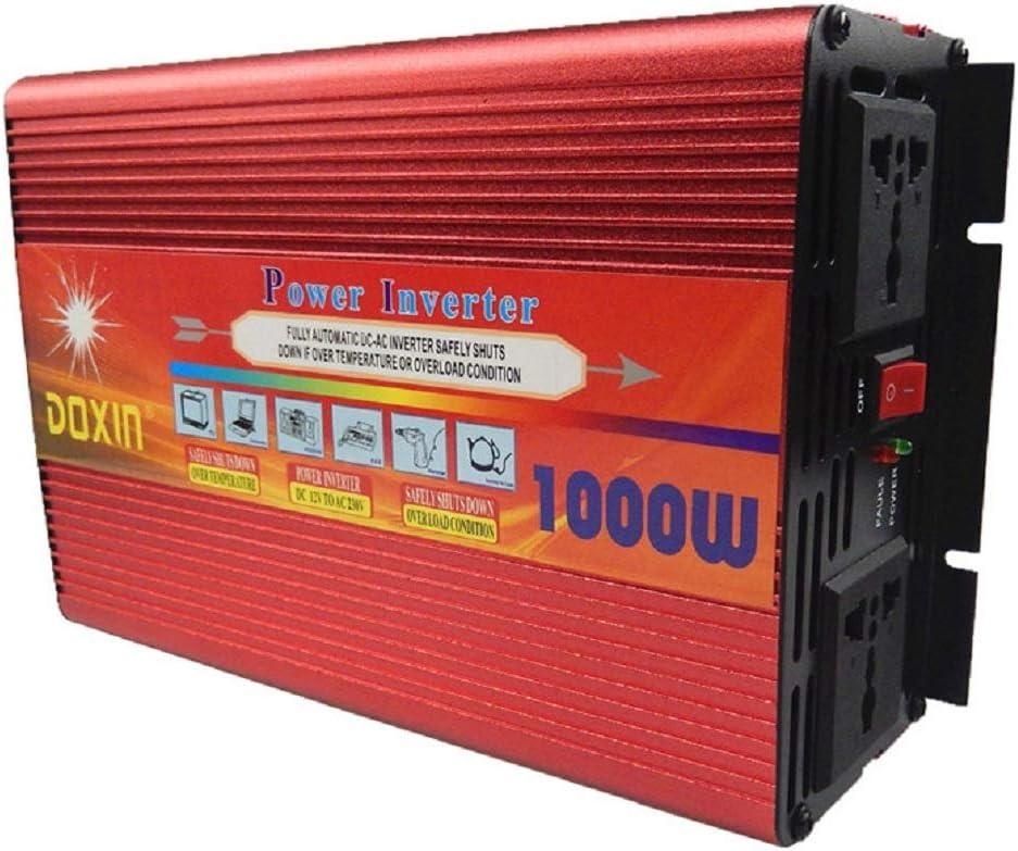 ZHJYD 1000W inversor de Corriente de Gran Capacidad Inversor 12 / 24V / 48V a 220V High Power Inverter (Size : 24V/220V/1000W)