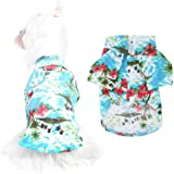 Pet Hawaiian Shirt Fashionable Breathable Dog Summer T-Shirt Comfortable Beach Resort Style Pet Clothes Puppy Clothes for Sma