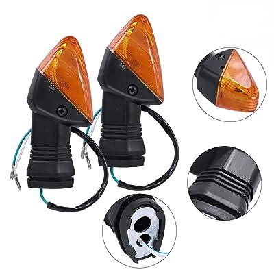 Zreneyfex Front Rear Turn Signal Indicator Lamp Fits Kawasaki ZX-6R ZX-6RR KLE500 KLE 650 KLR650 Z750S: Automotive