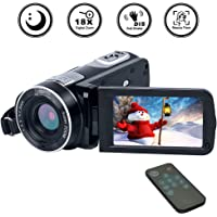 Camcorder Video Camera Full HD 1080p 18X Zoom Digital Camcorder with Pause And Replay Functions