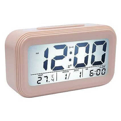 COOJA Reloj Despertador Digital Pilas, Alarma Despertador con Luz Snooze Numeros Grandes Temperatura, Despertadores para Niños Despertador Electronico ...