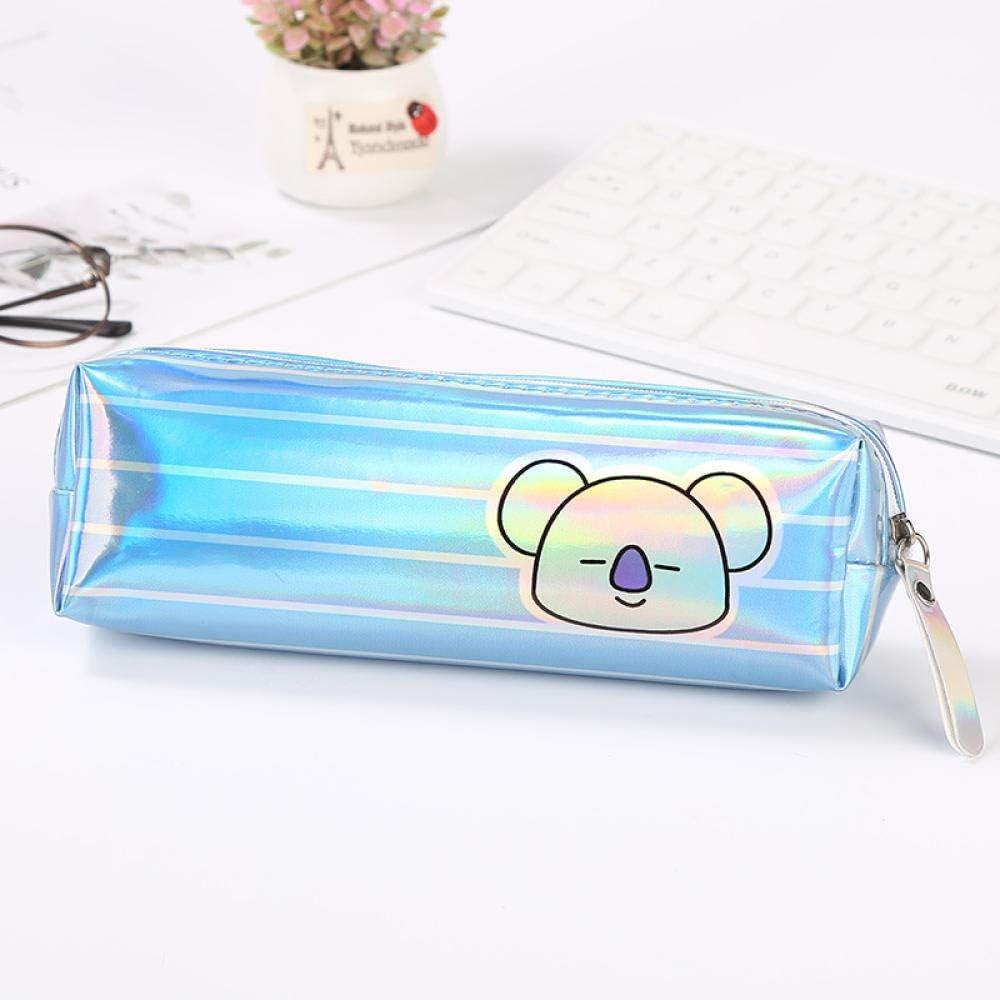 Estuches Azul Claro 1 Unids Kawaii Estuche Para Lápices Dibujos Animados Láser Estuches Estuche Para Lápices Estuche Para Lápices Útiles Escolares Papelería: Amazon.es: Oficina y papelería