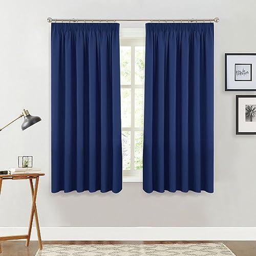 Navy Blue Curtains Amazon Co Uk