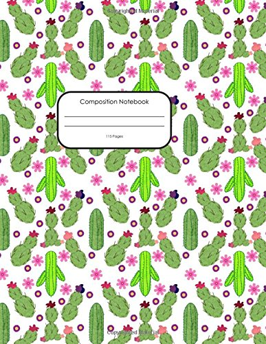 Download Composition Notebook: College Ruled 8.5 x 11 Large, 115 Pages: Colorful Cactus (Your New Favorite Journal) (Volume 1) pdf
