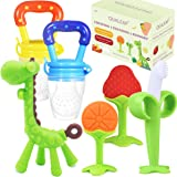 Teething Toys Teethers for Babies 0-6 Months 6-12 Months - with 2 × Baby Fruit Feeders and 4 × Baby Teether - BPA Free…