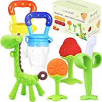 Different Soft Textures for Infant and Toddlers 2 Pack BPA Free//Freezer Free Hollow Teether Tubes 6.8/'/' Long Teething Toys for Babies 0-6 Months 6-12 Months