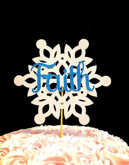 Decoración para tarta de copo de nieve personalizada ...