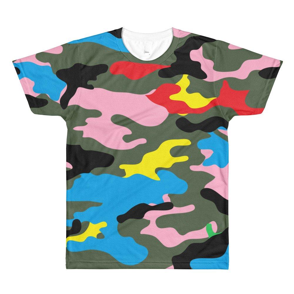 rainbow camouflage Sublimation men/'s crewneck t-shirt shirt top